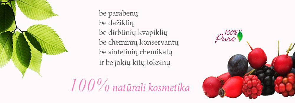100% Pure natūrali kosmetika
