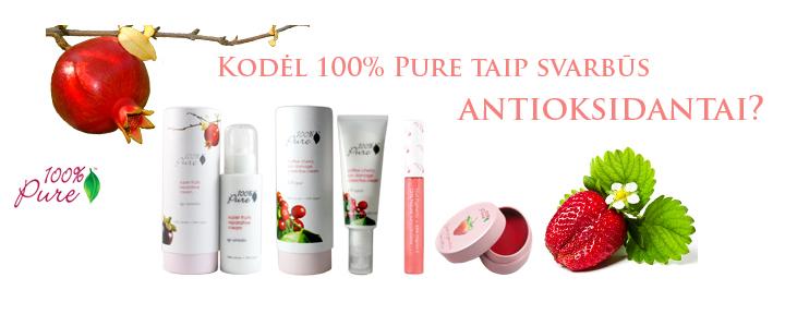 Kodėl 100% Pure produktuose tiek daug antioksidantų?