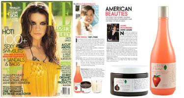 100% Pure natūralus Baškių limonado kūno prausiklis ir Šokoladinis kūno šveitiklis 'ELLE' žurnale