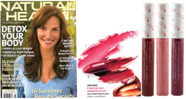 100% Pure Lūpų blizgėsys su vaisių pigmentais 'Natural Health' žurnale