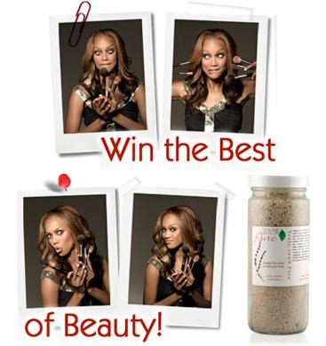 100% Pure Organinių levandų ir jūros dumblių terapinė druska voniai 'Beauty by Tyra' laidoje