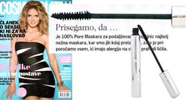 100% Pure Natūralus tušas su vaisių pigmentais 'Cosmopolitan' žurnale