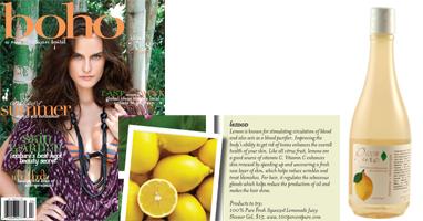 100% Pure Drėkinantis limonadinis kūno prusiklis/putos 'boho' žurnale