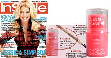 100% Pure natūralūs skaistalai su vaisių pigmentais 'InStyle' žurnale