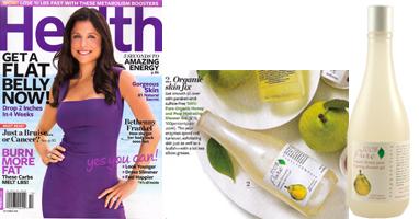100% Pure natūralus drėkinantis kriaušių kūno prausiklis/putos 'Health' žurnale