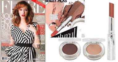 100% Pure natūralūs lūpų dažai ir šešėliai su vaisių pigmentais 'Flare' žurnale Kanada